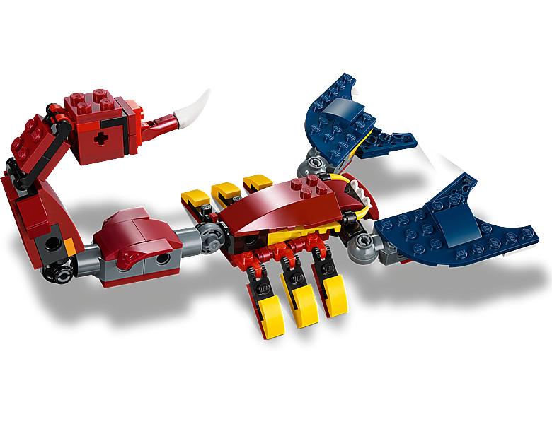 31102-lego-creator-fire-dragon-feuerdrache-2020-inhalt-2 zusammengebaut.com