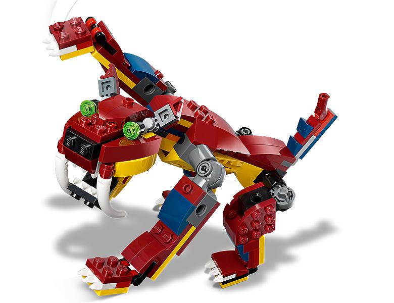 31102-lego-creator-fire-dragon-feuerdrache-2020-inhalt-3 zusammengebaut.com