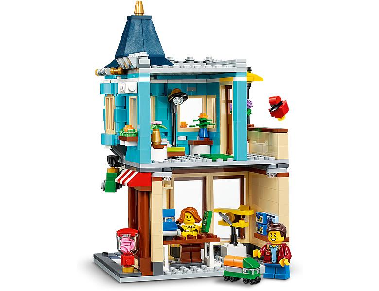 31105-lego-creator-townhouse-toy-store-stadthaus-spielzeugladen-2020-inhalt-3 zusammengebaut.com