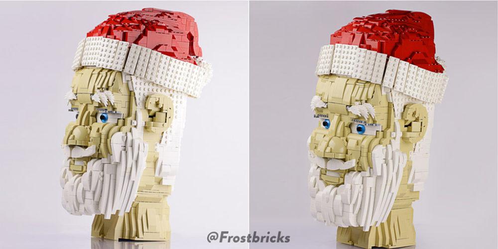 Santas Head by Kale Frost