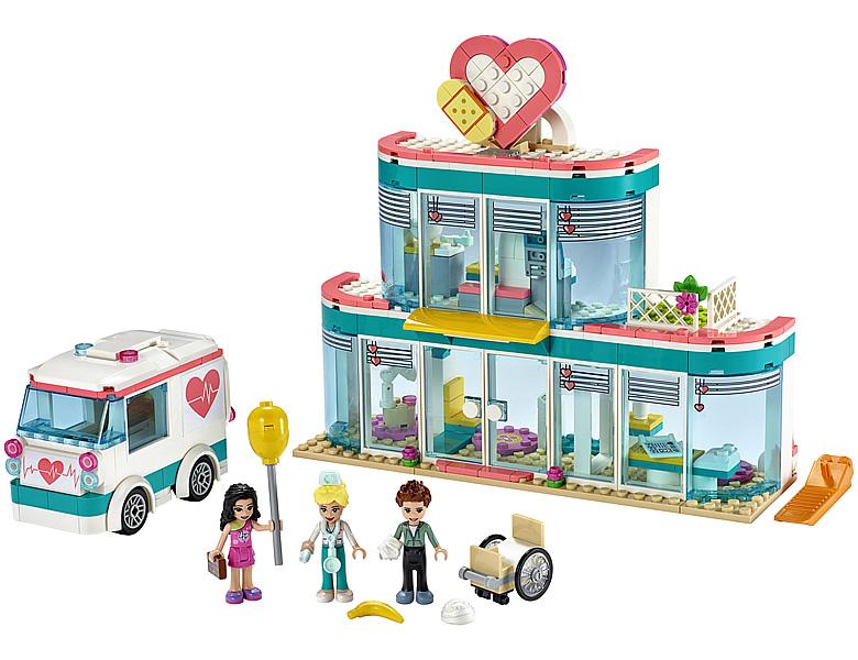 lego-friends-heartlake-city-hospital-41394-2019-inhalt-krankenhaus zusammengebaut.com