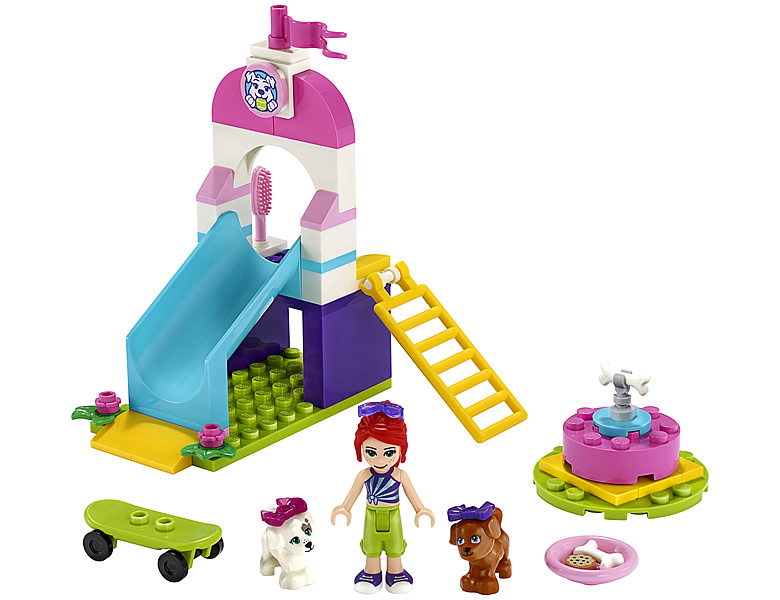 lego-friends-welpenspielplatz-puppy-playground-41396-2020-inhalt zusammengebaut.com