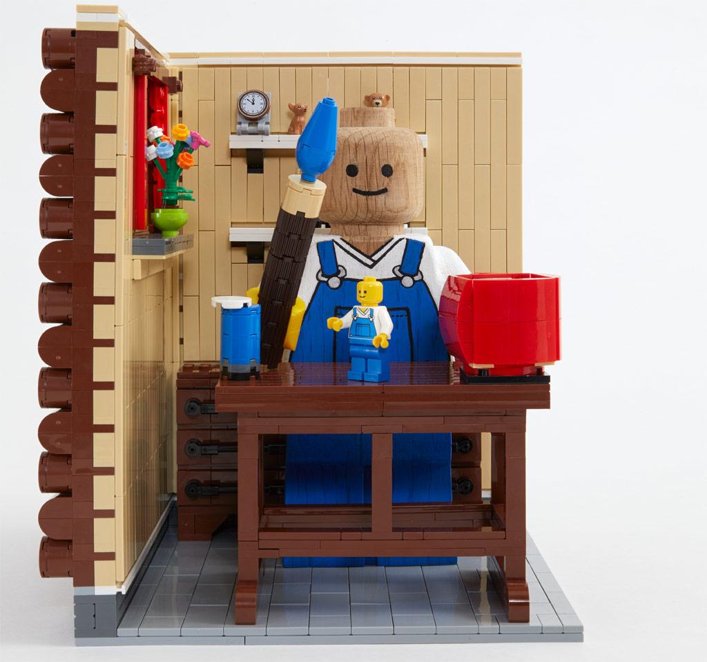 lego-originals-upscaled-wooden-minifigure-853967-2019-holzbank zusammengebaut.com
