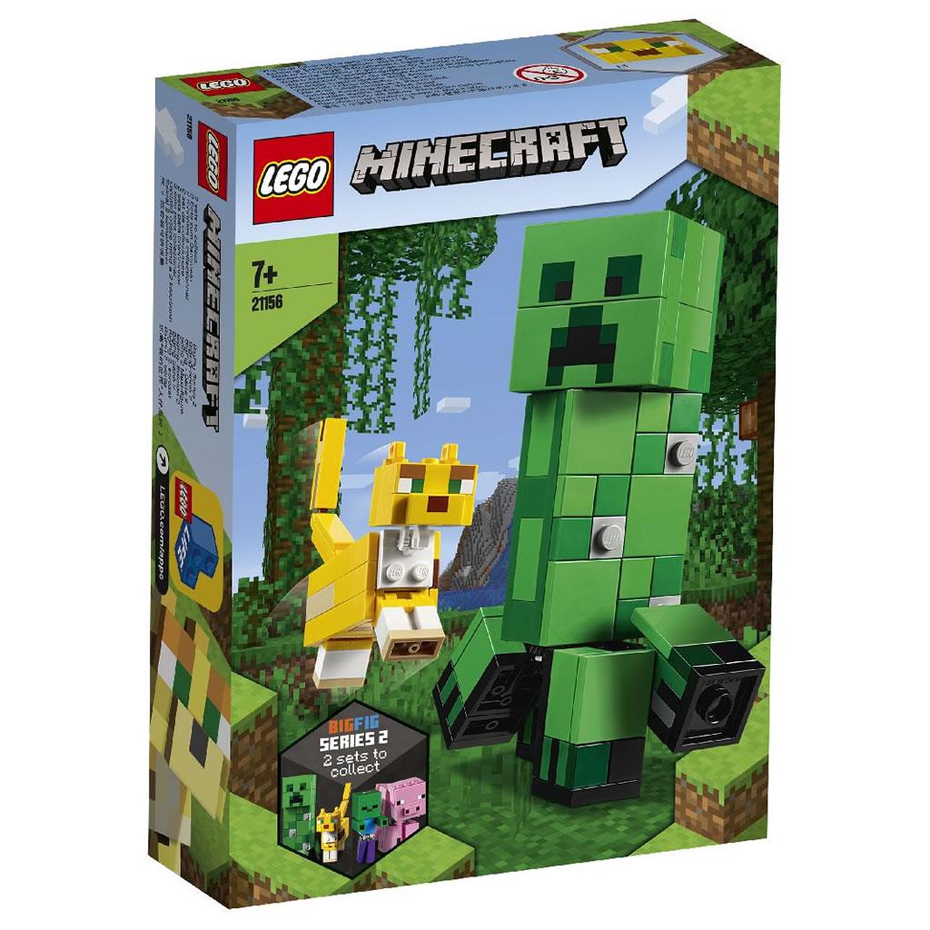 21156-lego-minecraft-creeper-ocelot-2020-box zusammengebaut.com