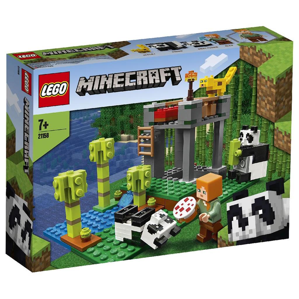 21158-lego-minecraft-panda-kindergarten-2020-box zusammengebaut.com