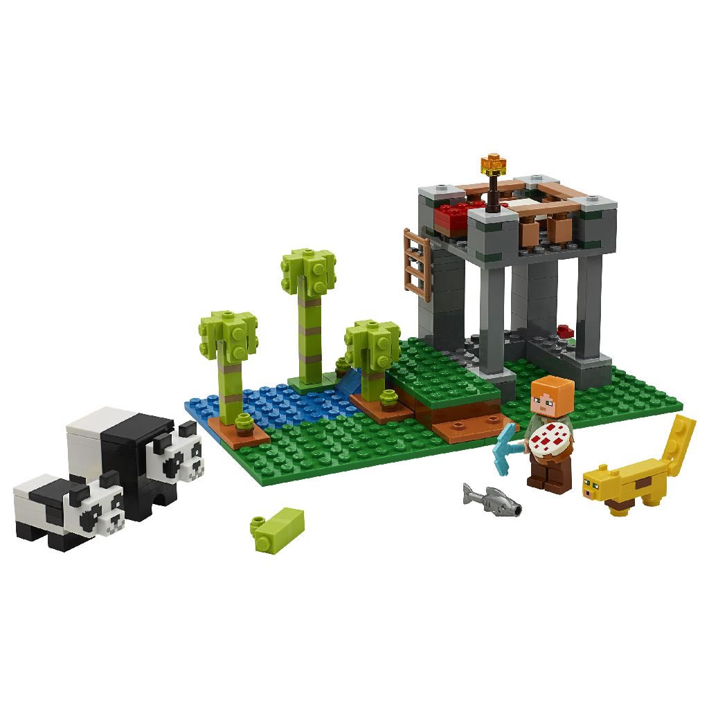 21158-lego-minecraft-panda-kindergarten-2020-inhalt zusammengebaut.com