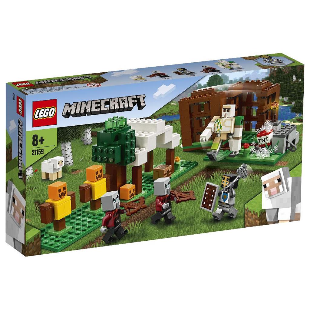 21159-lego-minecraft-raider-outpost-box-2020 zusammengebaut.com