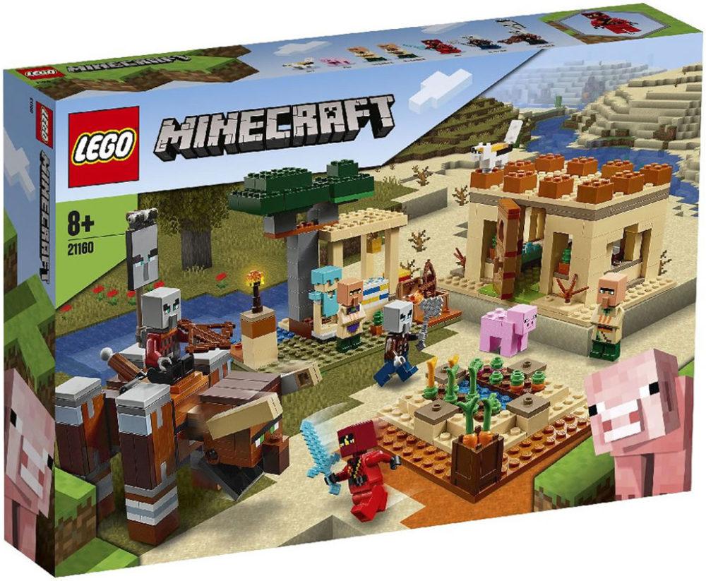 21160-lego-minecraft-illager-raid-box-2020 zusammengebaut.com