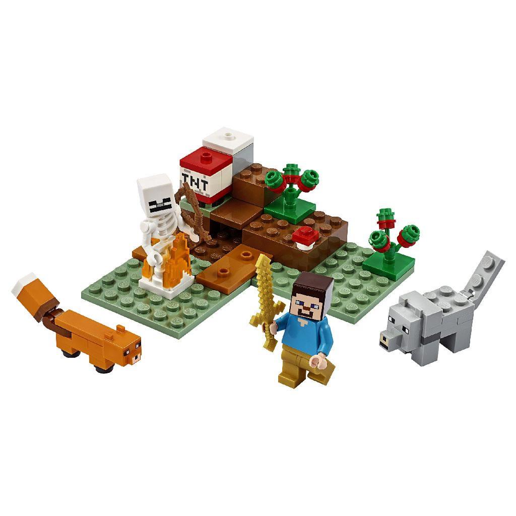 21162-lego-minecraft-taiga-adventure-inhalt-2020 zusammengebaut.com