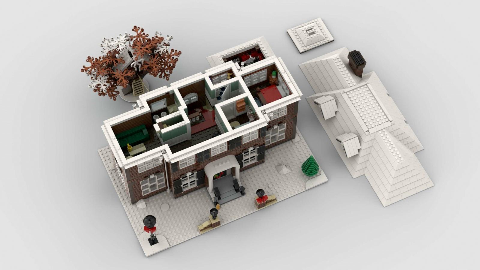lego-ideas-home-alone-dach-adwind zusammengebaut.com