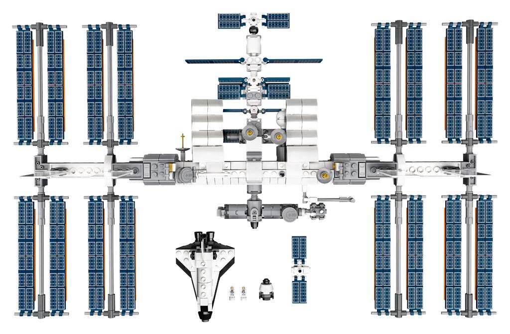 lego-ideas-21321-international-space-station-2020-draufsicht zusammengebaut.com