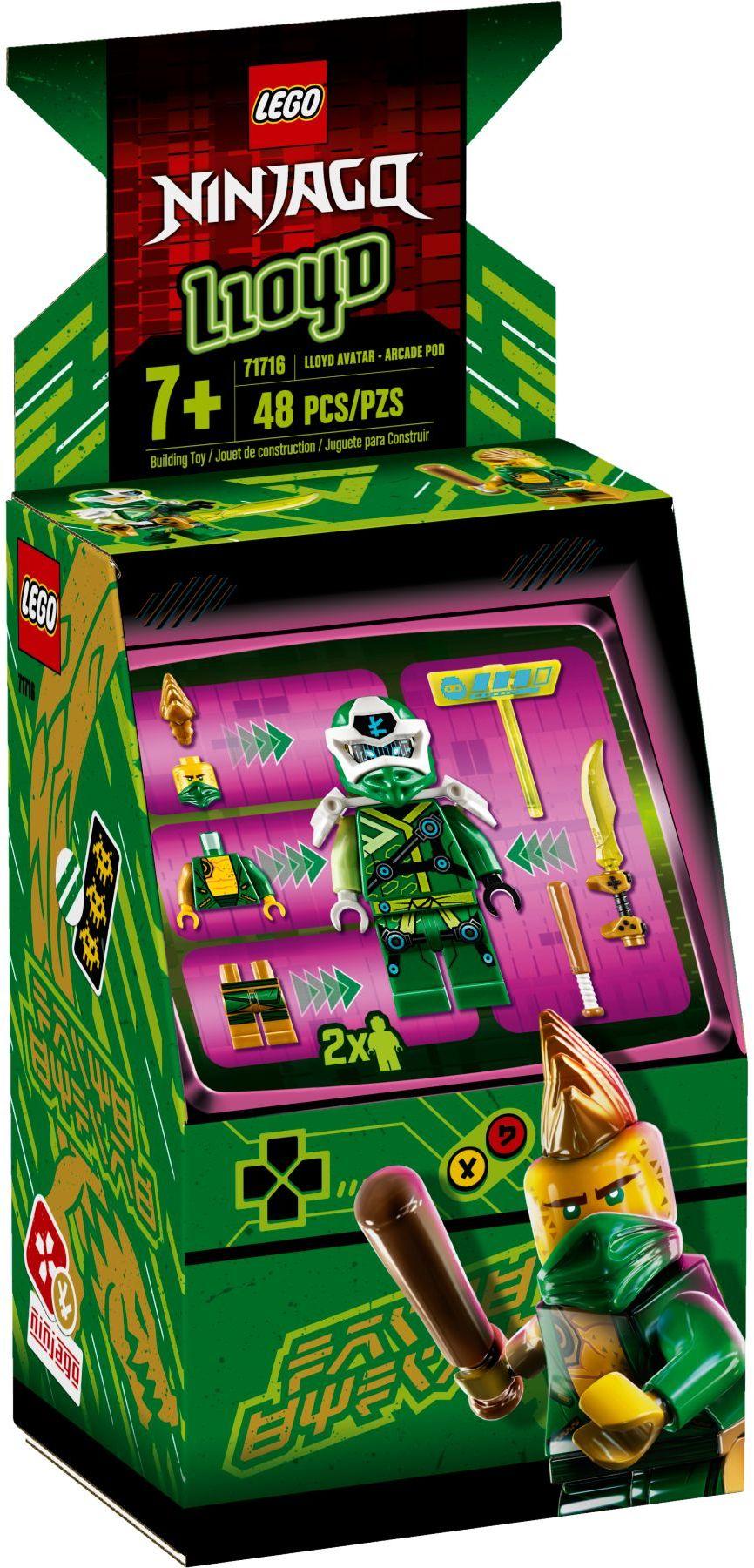 lego-ninjago-71716-avatar-lloyd -arcade -kapsel-2020-verpackung zusammengebaut.com