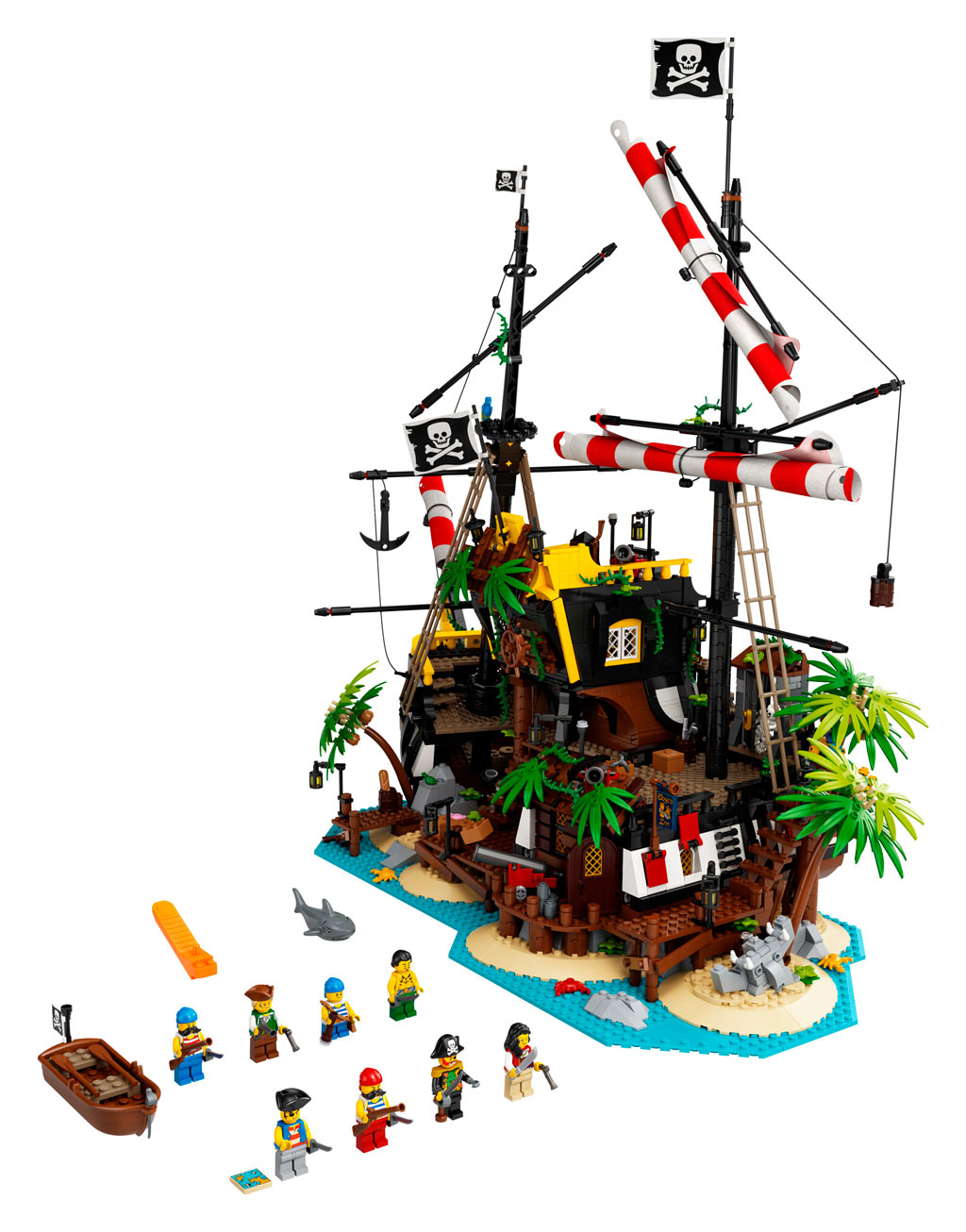lego-ideas-21322-pirates-of-barracuda-bay-piraten-bucht-2020-inhalt zusammengebaut.com