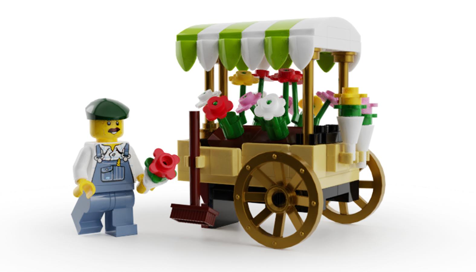 lego-ideas-bricks-blooms-blumenwagen-bricked1980 zusammengebaut.com
