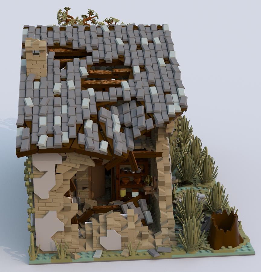 lego-ideas-house-ruined-seite-kirteem zusammengebaut.com