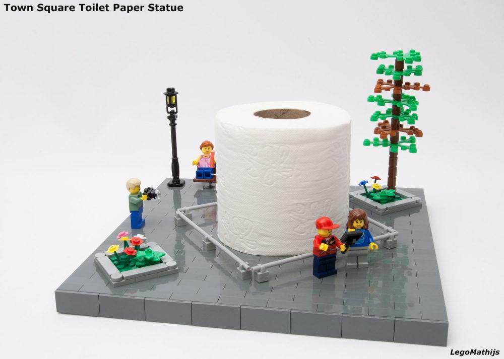 lego-town-square-toilet-paper-statue-legomathijs zusammengebaut.com