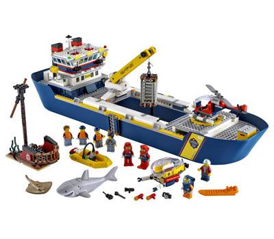lego-city-60266-forschungsboot-der-ozeanforscher-2020-inhalt-klein zusammengebaut.com