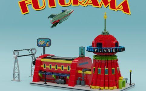 lego-ideas-futurama-planet-express-headquarter-spaceship-and-the-crew-thomasw zusammengebaut.com