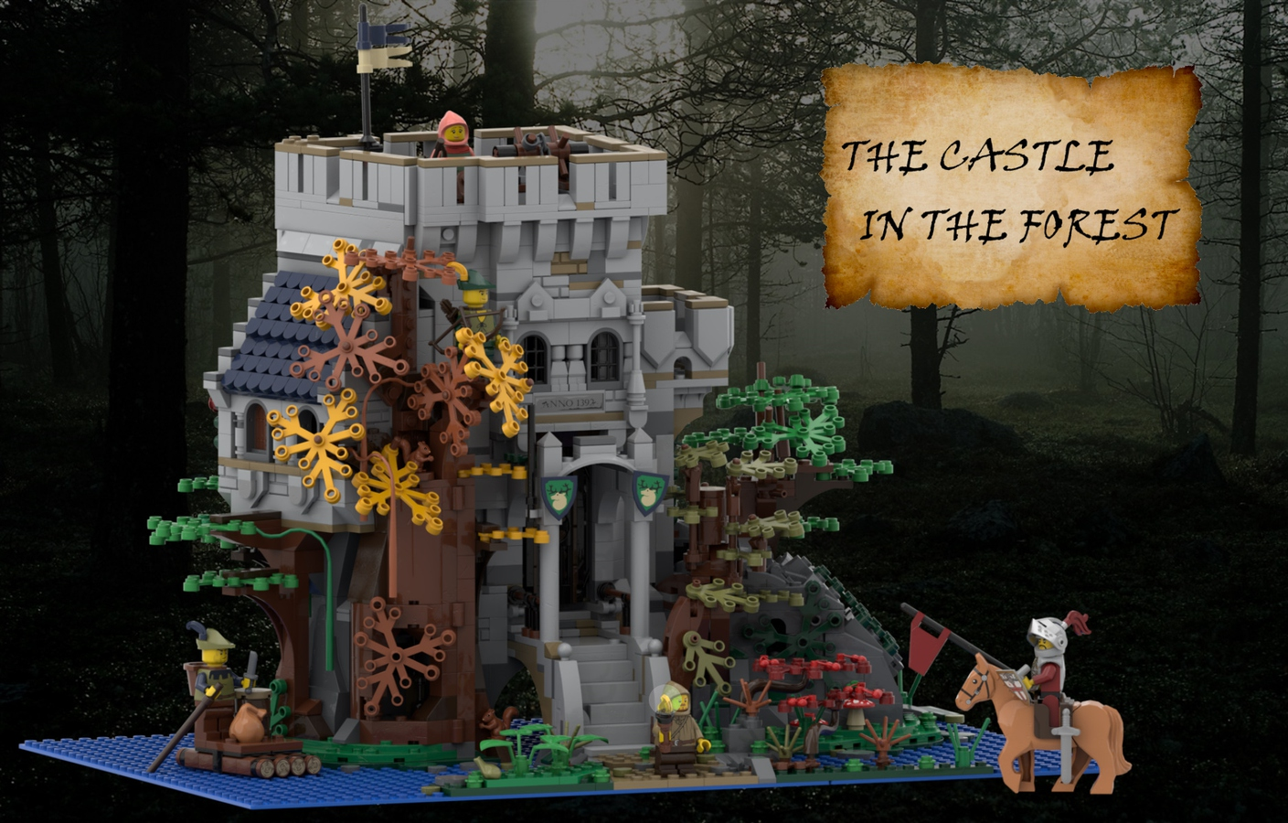 lego-ideas-the-castle-in-the-forest-poVoq zusammengebaut.com