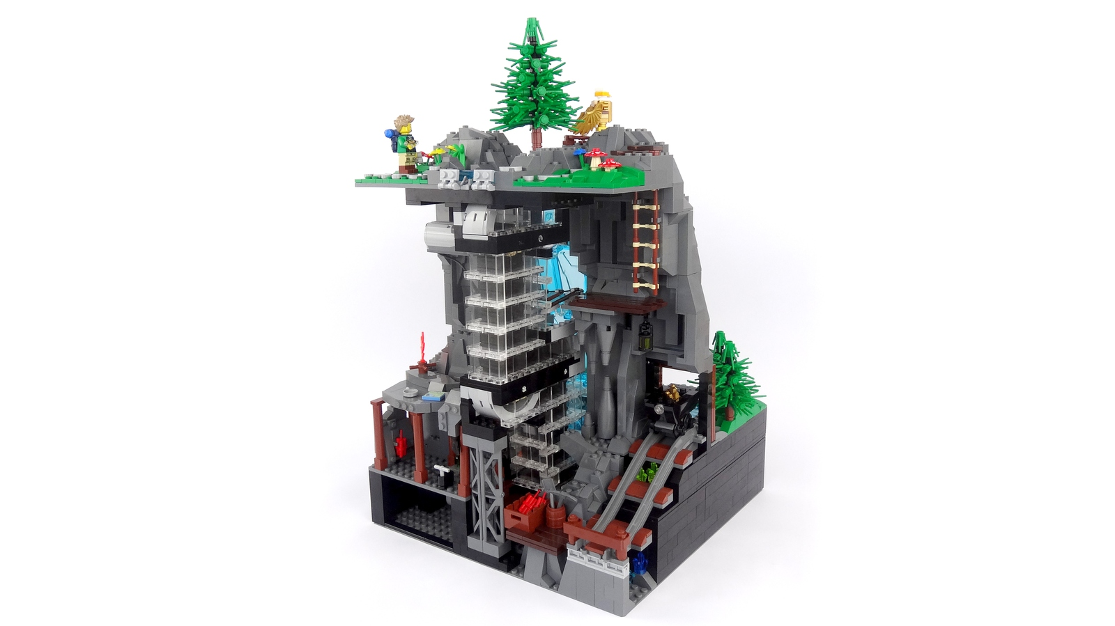 lego-ideas-working-waterfall-with-continuous-flowing-water-legoparadise-2 zusammengebaut.com