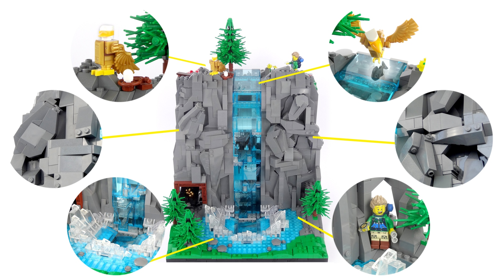 lego-ideas-working-waterfall-with-continuous-flowing-water-legoparadise-3 zusammengebaut.com