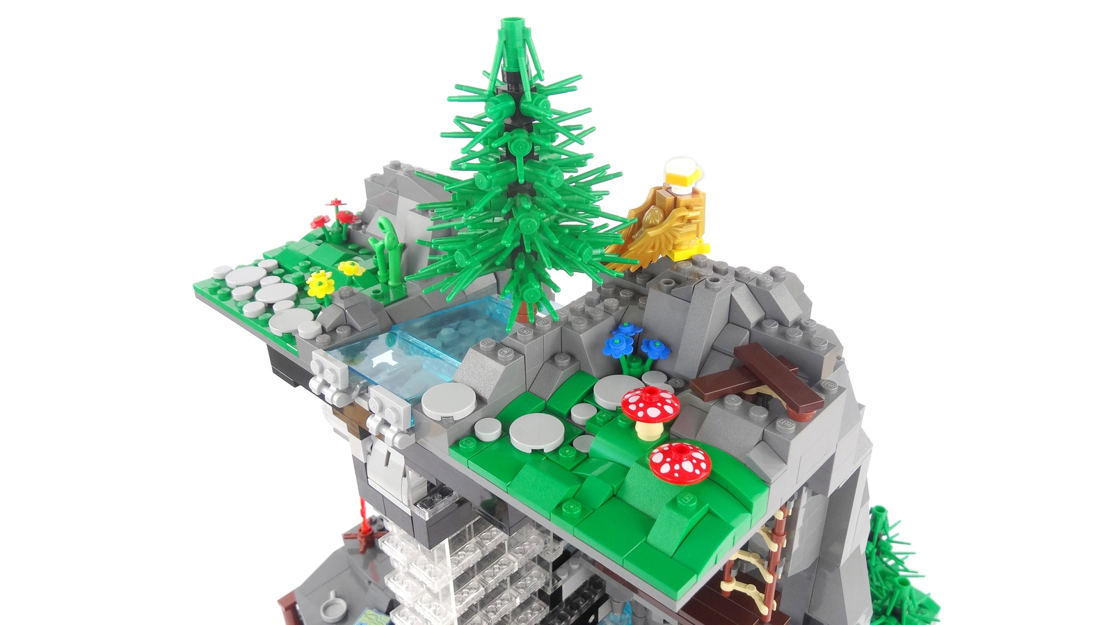 lego-ideas-working-waterfall-with-continuous-flowing-water-legoparadise-5 zusammengebaut.com