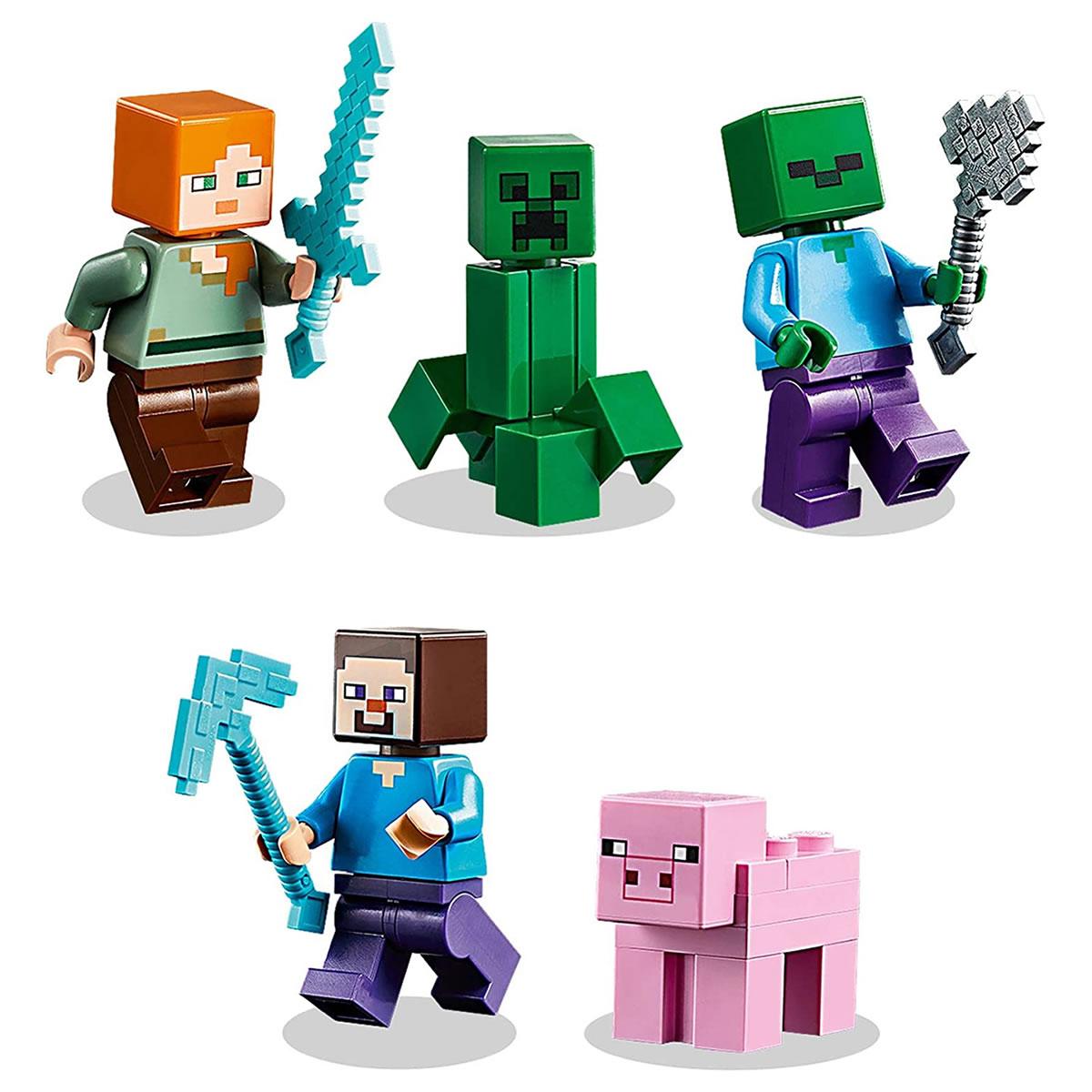 lego-minecraft-21161-crafting-box-figuren zusammengebaut.com