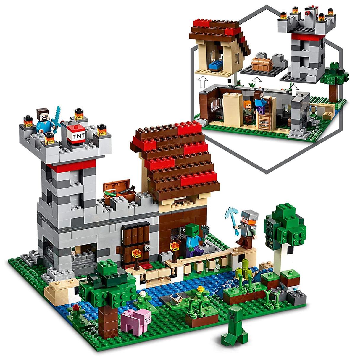 lego-minecraft-21161-crafting-box-inhalt zusammengebaut.com