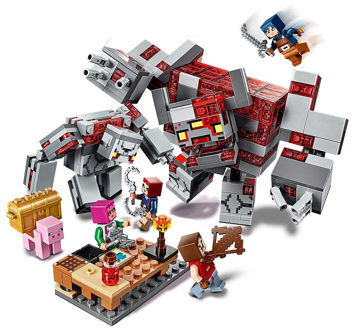 lego-minecraft-21163-redstone-battle-inhalt zusammengebaut.com