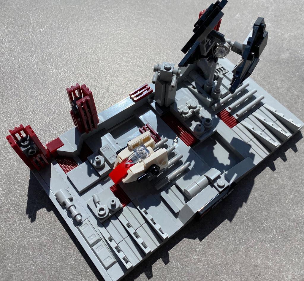lego-star-wars-40407-schlacht-um-den-zweiten-todesstern-2020-matthias-kuhnt-draufsicht zusammengebaut.com