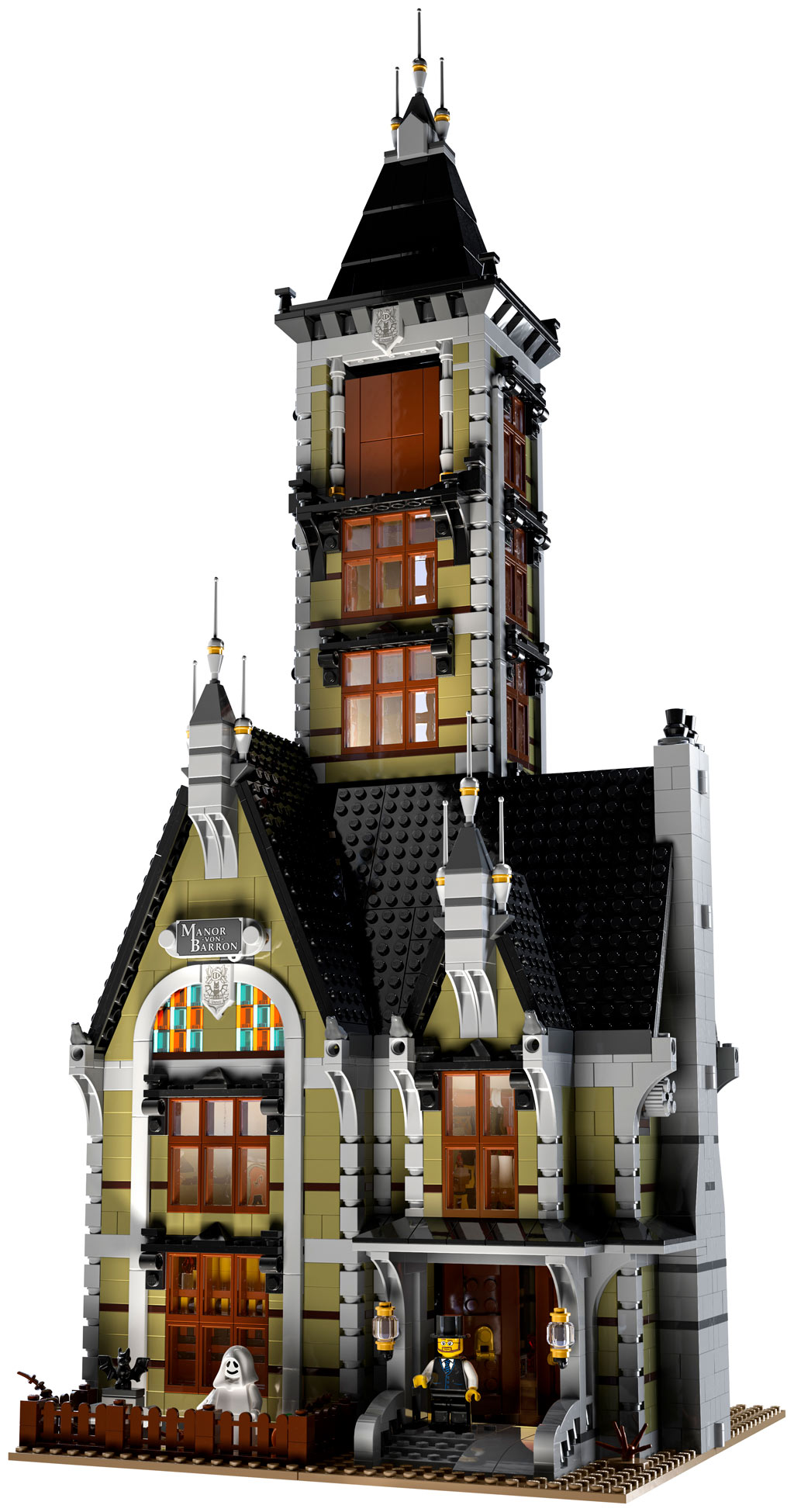 lego-fairground-collection-10273-haunted-house-spukhaus-2020-frontansicht zusammengebaut.com