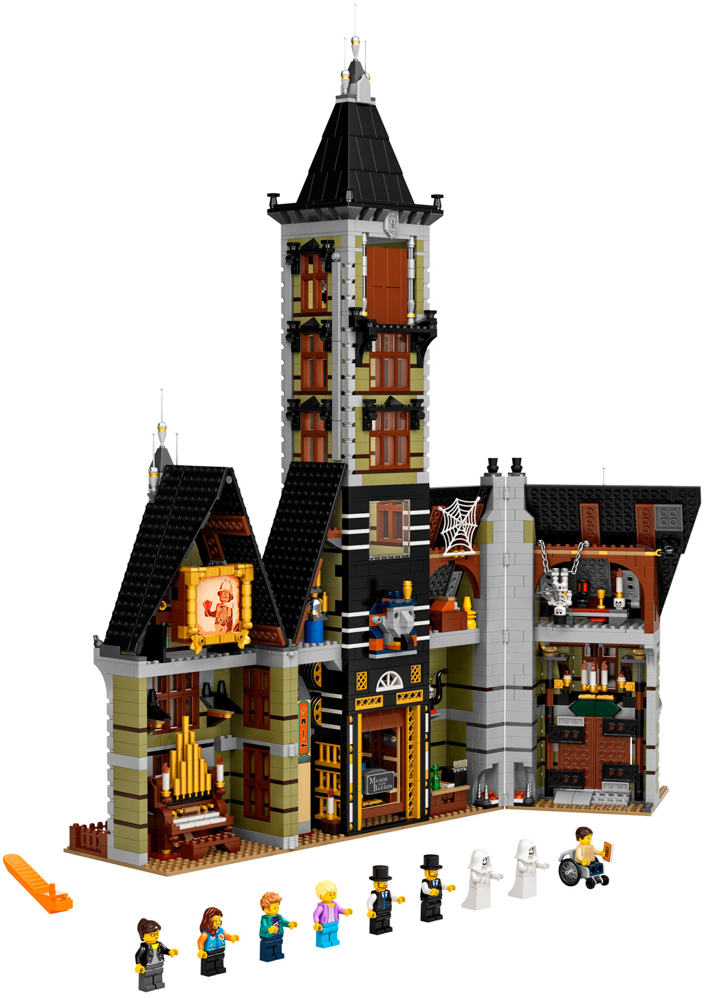 lego-fairground-collection-10273-haunted-house-spukhaus-2020-inhalt zusammengebaut.com