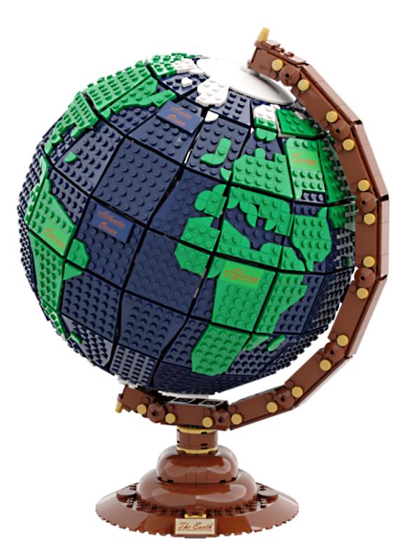 lego-ideas-the-earth-globe-disneybrick55-1 zusammengebaut.com