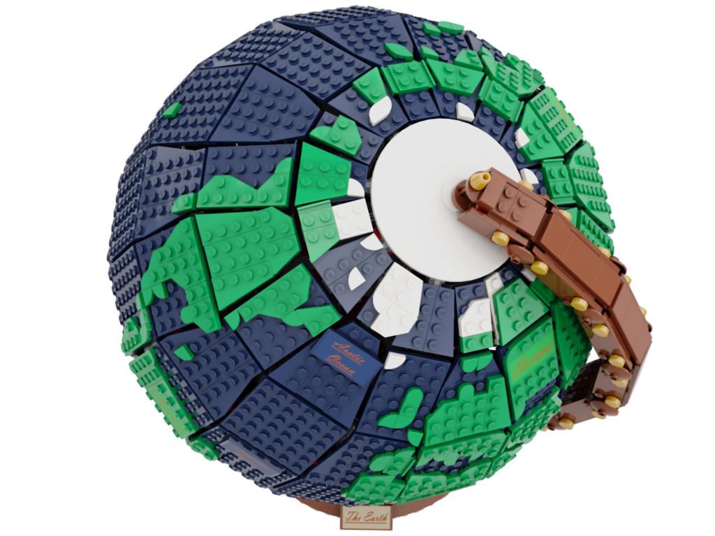 lego-ideas-the-earth-globe-disneybrick55-2 zusammengebaut.com