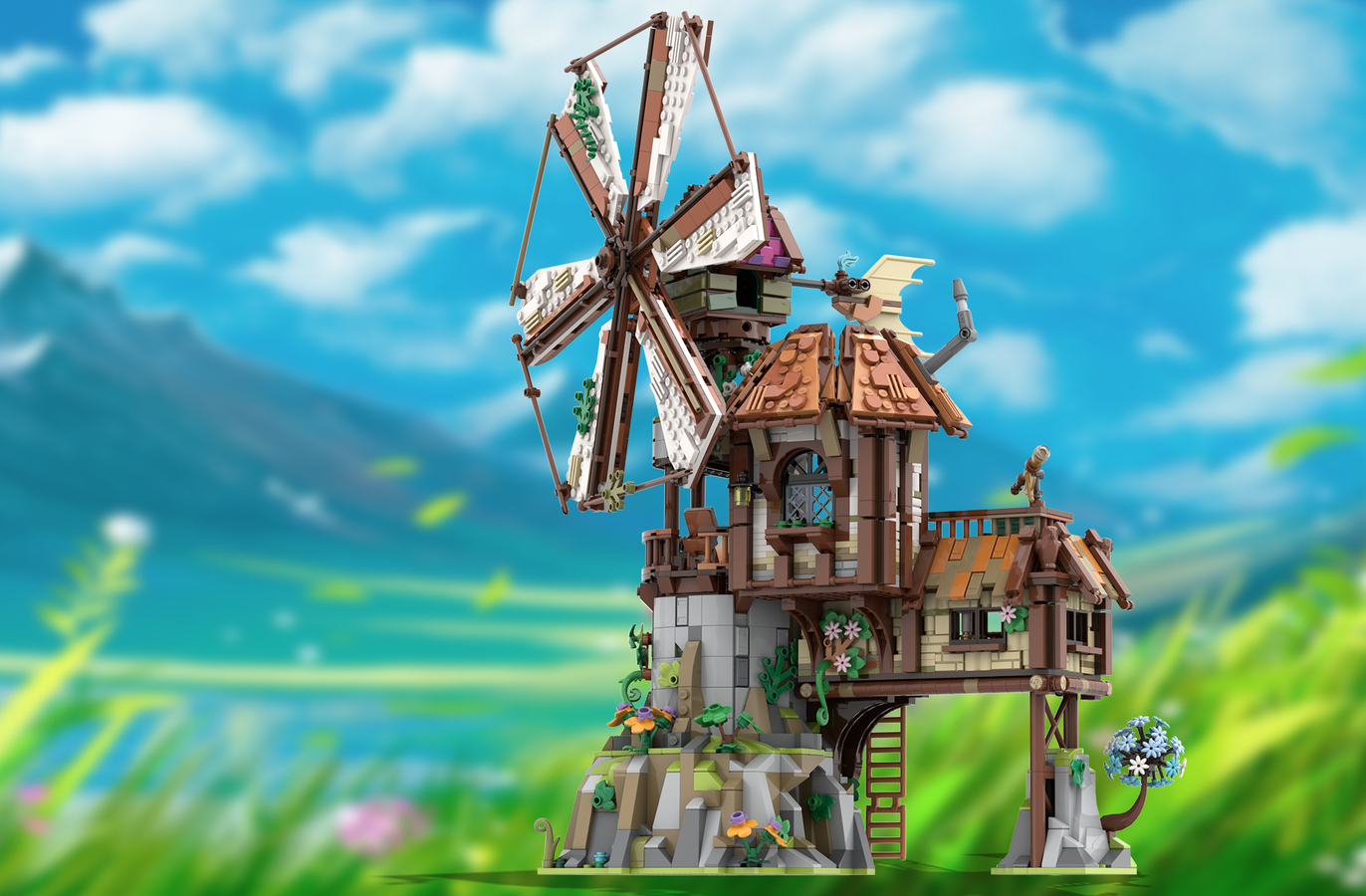 lego-ideas-the-mountain-windmill-hanwasyellowfirst-1 zusammengebaut.com
