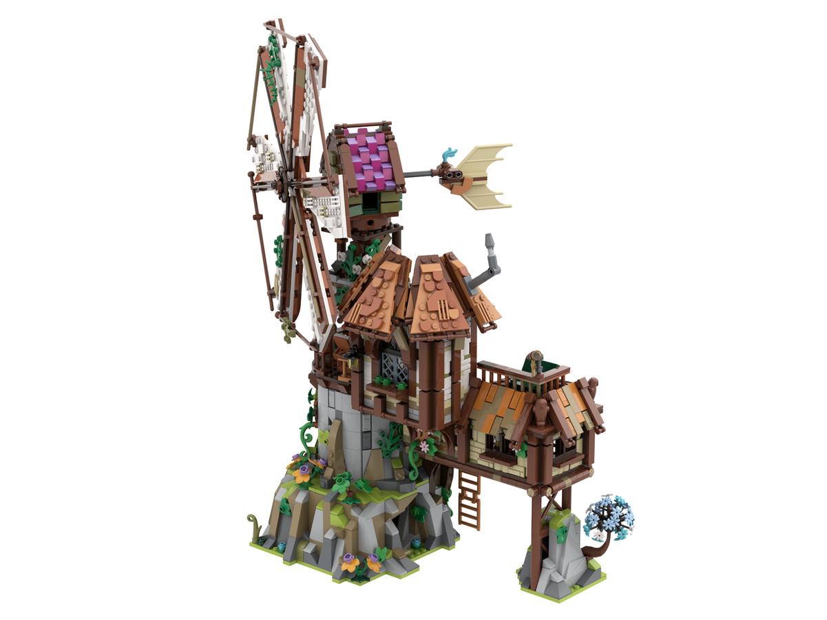 lego-ideas-the-mountain-windmill-hanwasyellowfirst-2 zusammengebaut.com