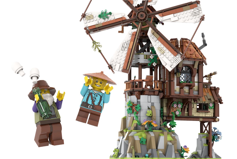 lego-ideas-the-mountain-windmill-hanwasyellowfirst-4 zusammengebaut.com