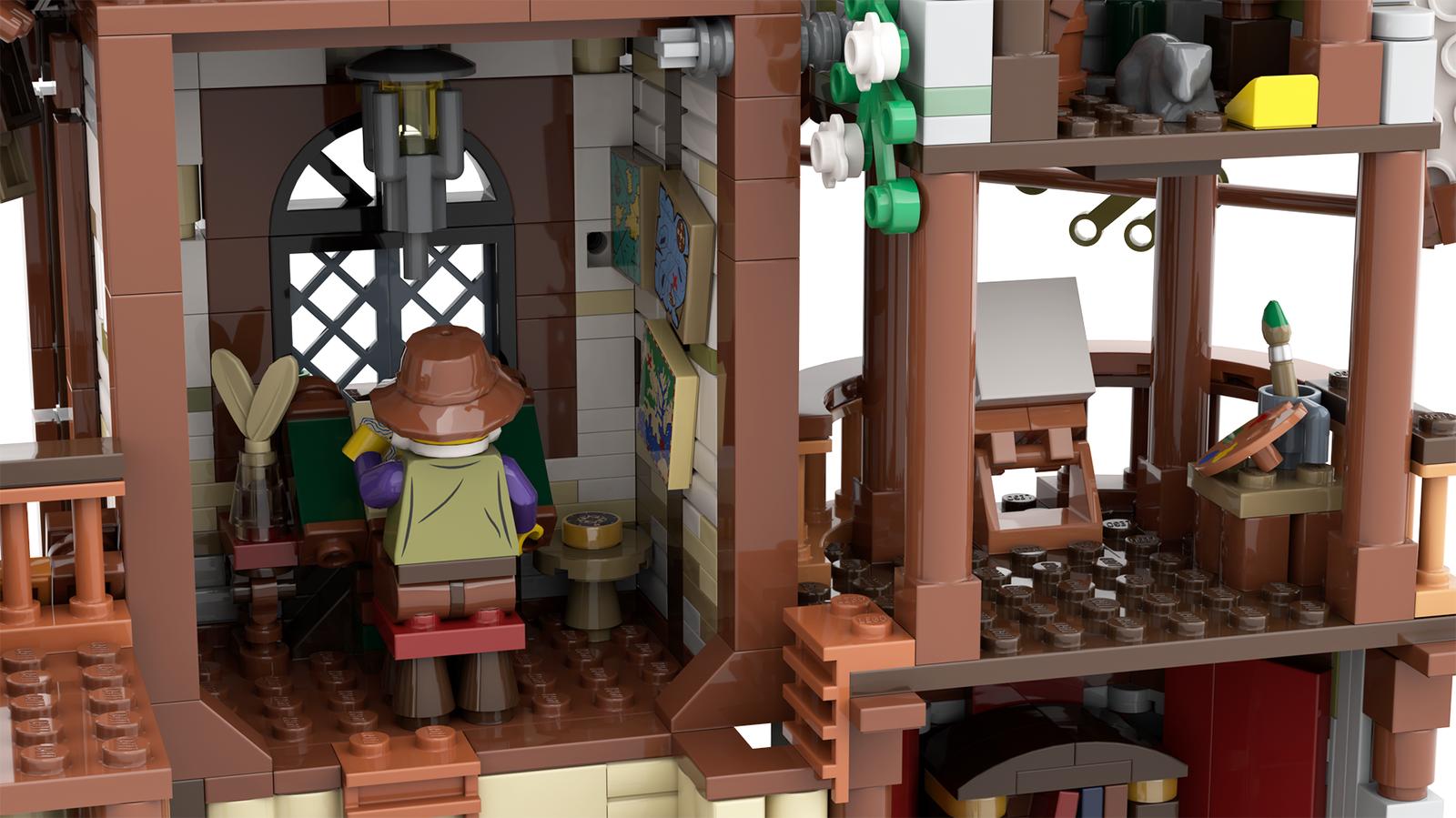 lego-ideas-the-mountain-windmill-hanwasyellowfirst-5 zusammengebaut.com