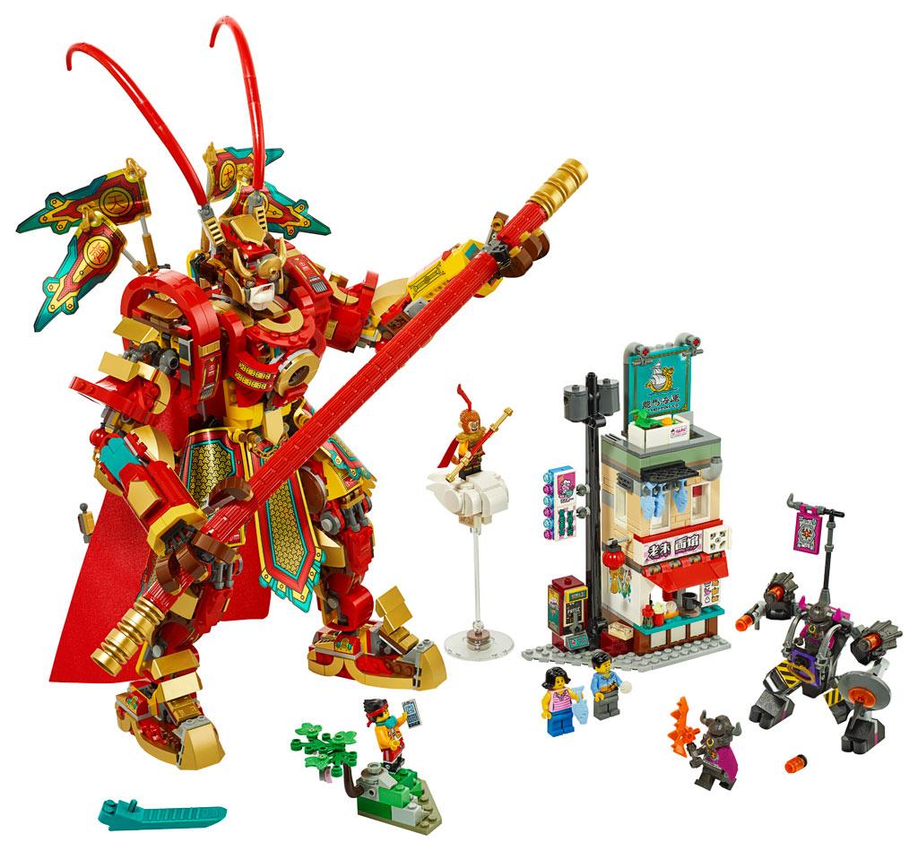 lego-monkie-kid-80012-monkey-king-warrior-mech-2020-inhalt zusammengebaut.com