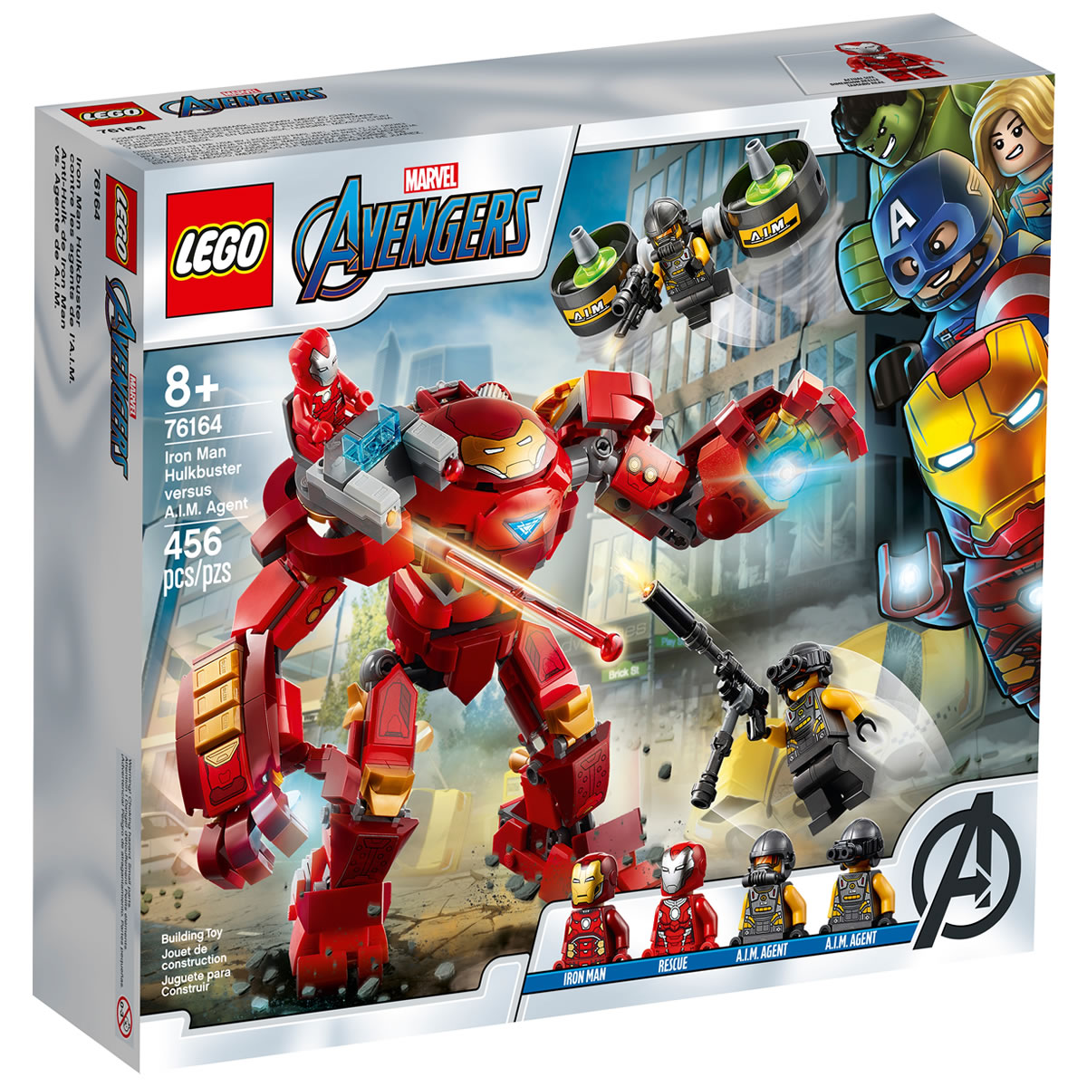 76164-lego-marvel-iron-man-hulkbuster-versus-aim-agent-2020-box zusammengebaut.com