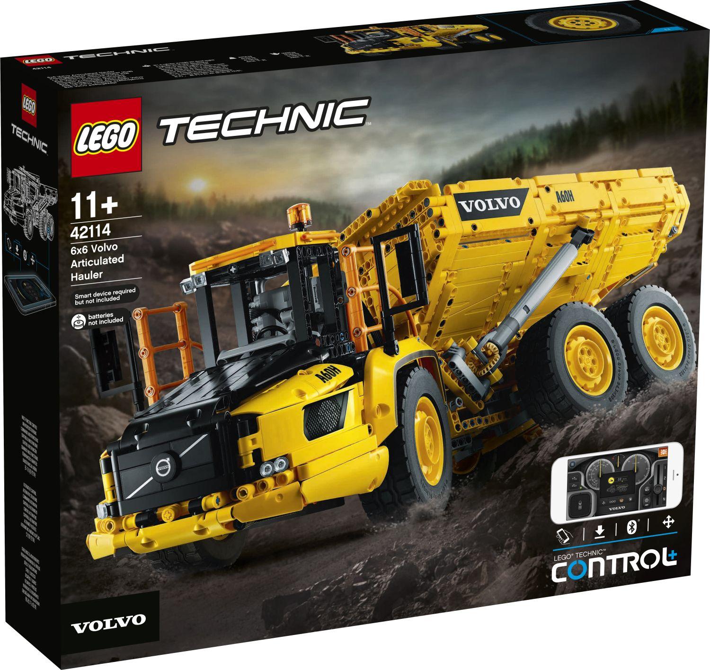lego-technic-42114-knickgelenkter-volvo-dumper-6-6-2020-box-front zusammengebaut.com
