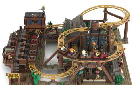 lego-ideas-gold-rush-mine-train-roller-coaster-footonabrick zusammengebaut.com