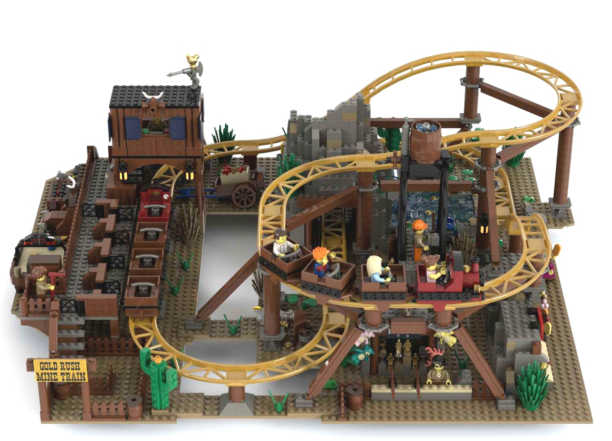 lego-ideas-gold-rush-mine-train-roller-coaster-footonabrick zusammengebaut.com