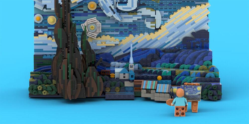 LEGO Starry Night by Legotruman