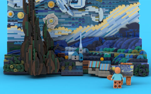 LEGO Starry Night by Legotruman