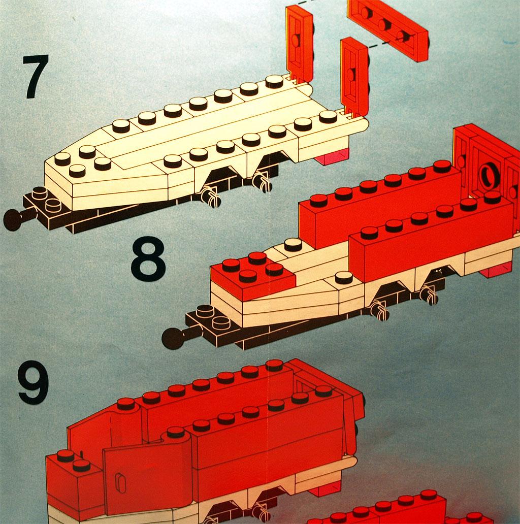 Ausschnitt der Anleitung mit kompakten Bauschritten.