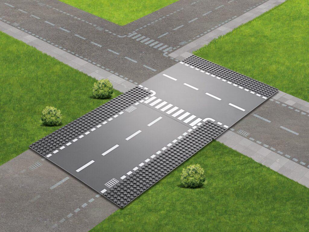 Produktbild der LEGO 60236 Straßenplatten Gerade und T-Kreuzung