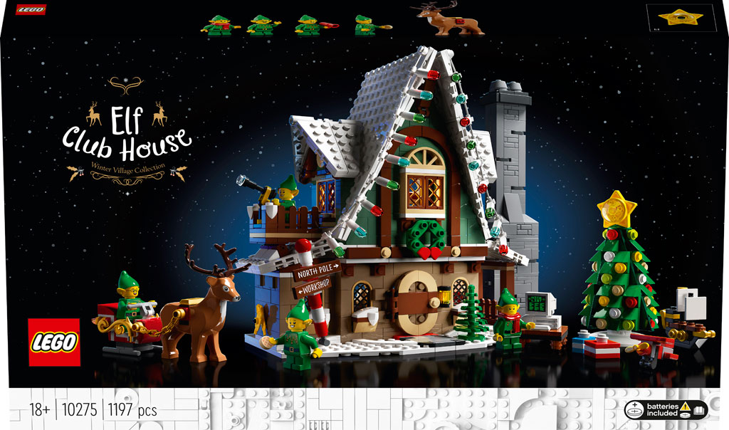 LEGO 18+ Winter Village 10275 Elfen-Klubhaus Box