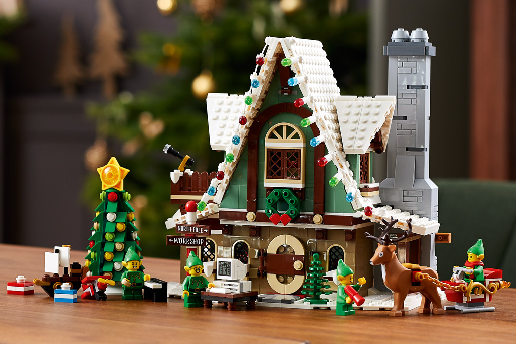 LEGO 18+ Winter Village 10275 Elfen-Klubhaus Box Tisch