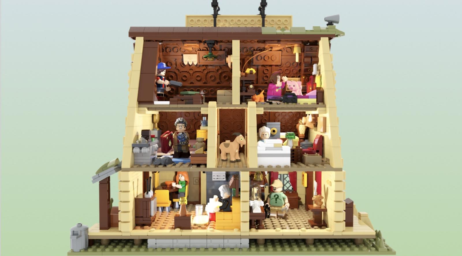 LEGO Ideas Gravity Falls: The Mystery Shack Innenleben